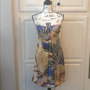 Cache Dresses - CACH'E Strapless Silk Dress